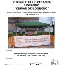 V TORNEO INTRCLUBES DE PETANCA's Cover