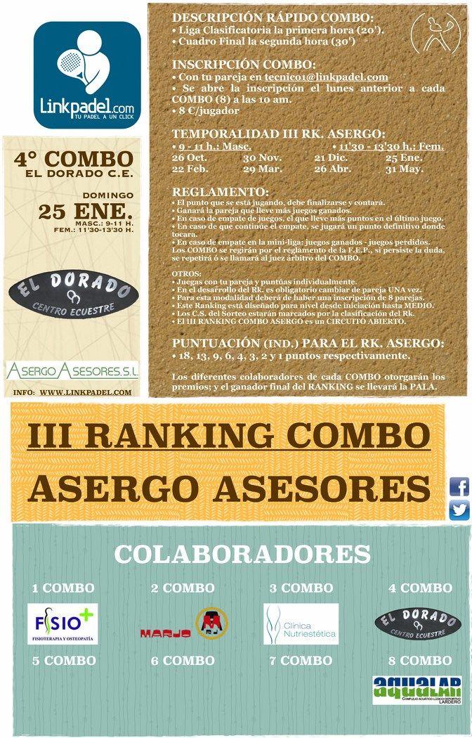 info: http://www.linkpadel.com/index.php/torneos/235-4combo-el-dorado-ce-del-iii-ranking-asergo-asesores