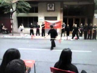 Forma Lanza Doble Cabeza de Tai Chi-Shaolin Dragon-Tai chi en Logroño-San Mateo 2014